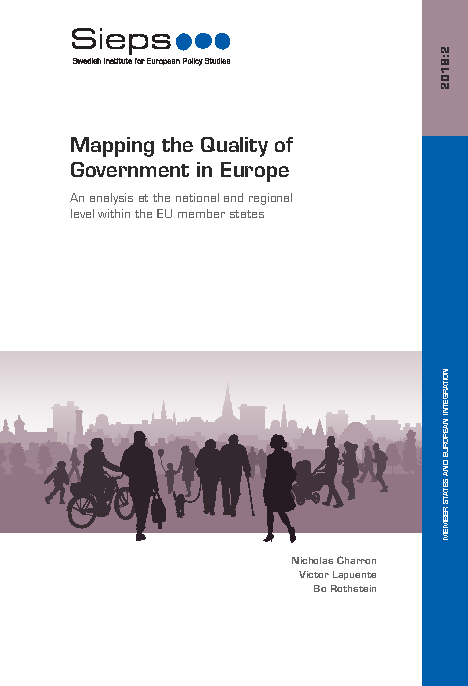 Mapping the Quality of Government in Europe: An analysis at the national and regional level within the EU member states