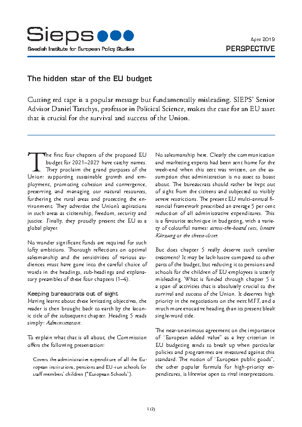 The hidden star of the EU budget