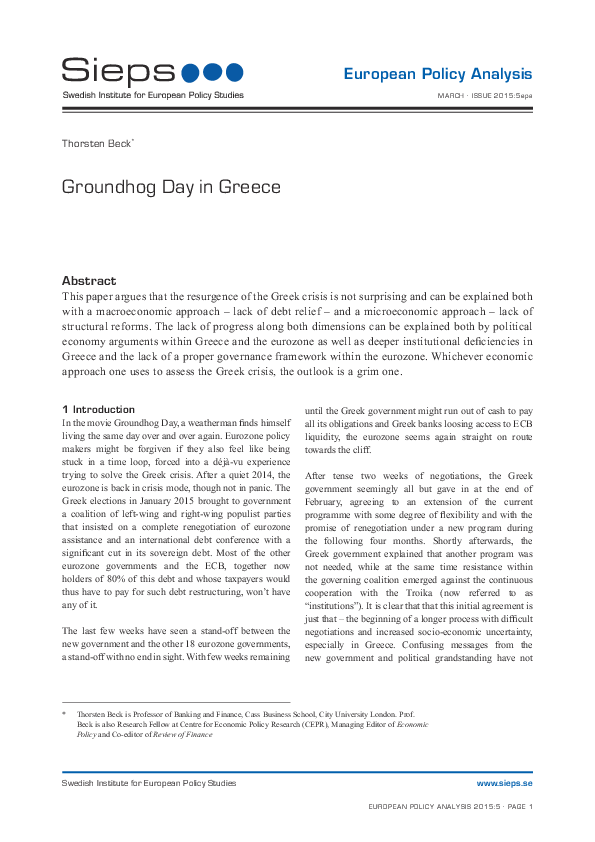 Groundhog Day in Greece