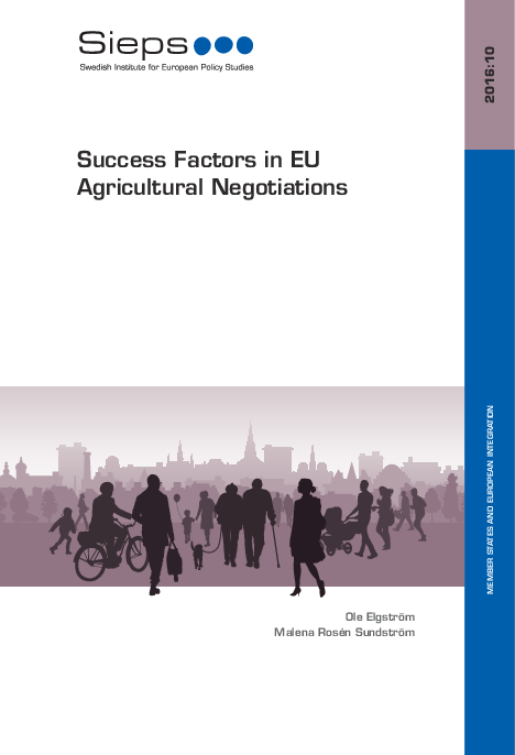 Success Factors in EU Agricultural Negotiations (2016:10)
